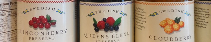 Hafi Lingonberry Queens Blend Cloudberry preserves